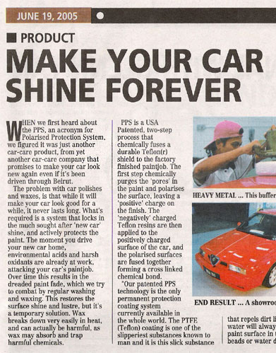 Shine N Shield Auto Paint Protection Using Us Patented Pps